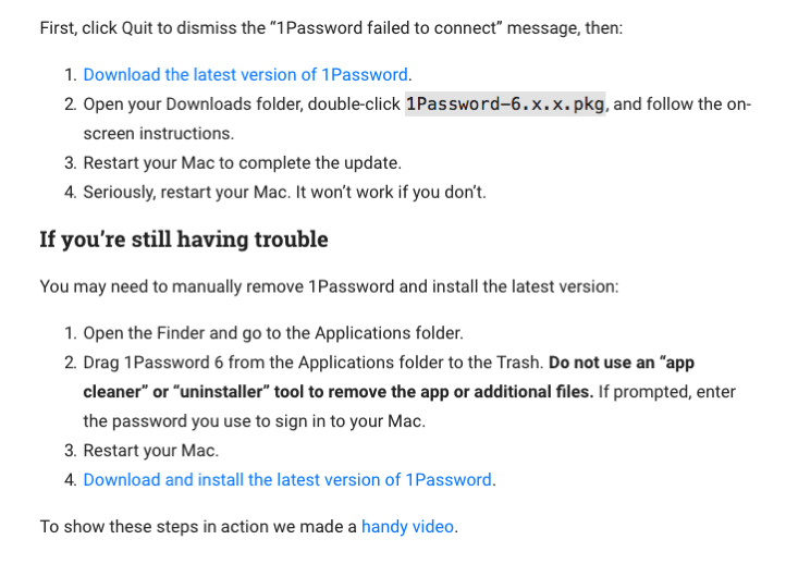 1Password failed to connect to 1Password mini February 2017 1Password Support